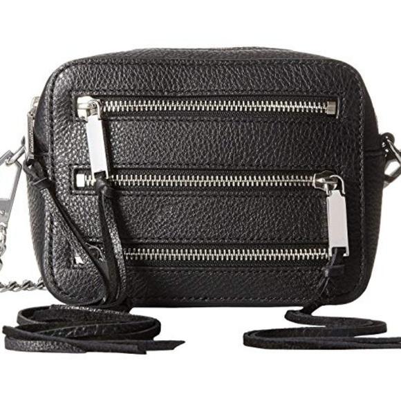 Rebecca Minkoff Handbags - Rebecca Minkoff 4 Zip black Moto camera bag